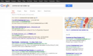 Google commercial real estate search