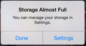Solutions for Tech Problems - iPhone Storage